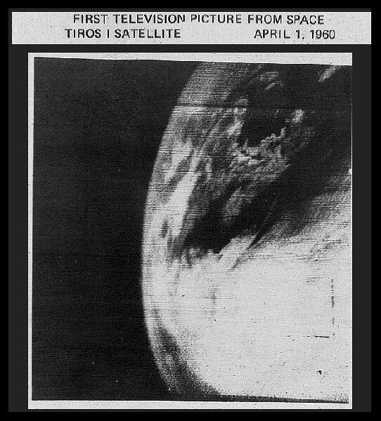 photo of Earth from TIROS-1 weather station
