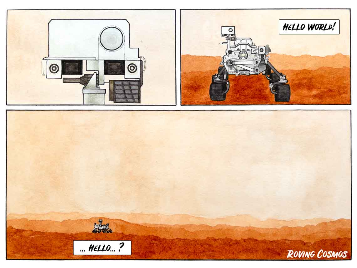 Roving Cosmos Perseverance Arriving on Mars
