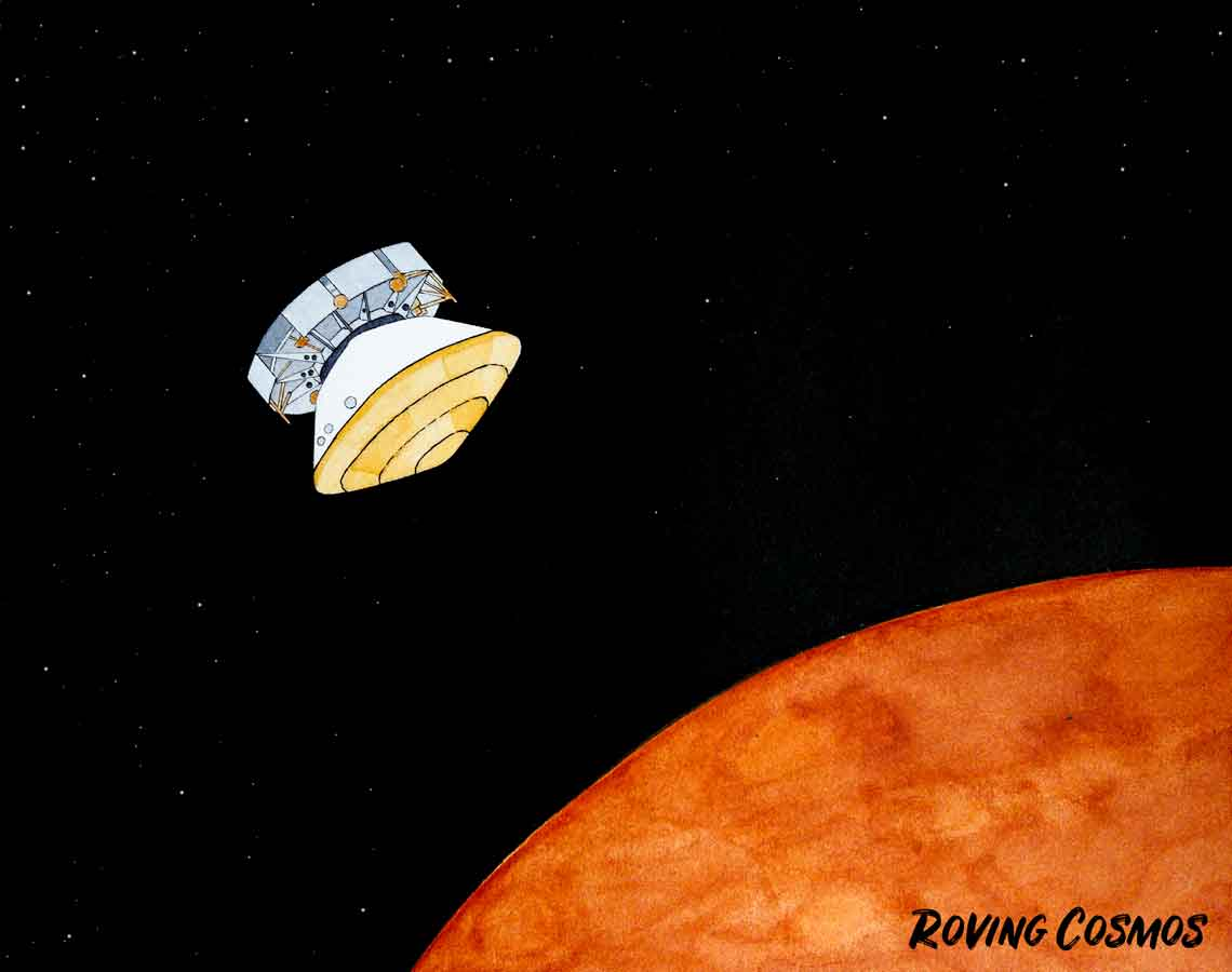 Roving Cosmos Approaching Mars