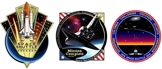 space shuttle program patches